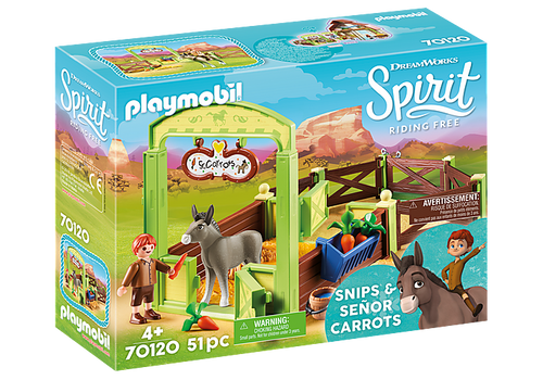 Playmobil Snips & Señor Carrots with Horse Stall (70120)