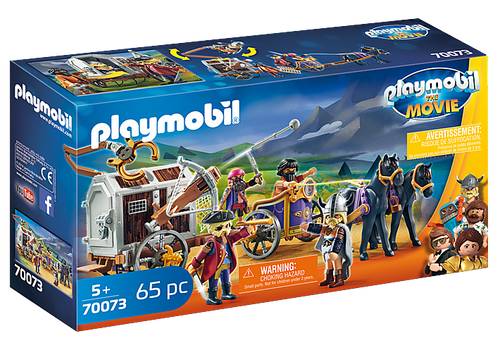 PLAYMOBIL:THE MOVIE Charlie with Prison Wagon (70073)