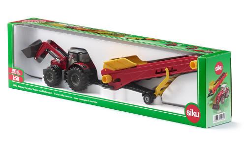 SIKU Massey Ferguson Tractor with Conveyor (1996)