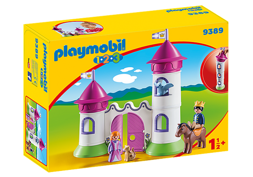 Playmobil 1.2.3 Castle with Stackable Towers (9389)