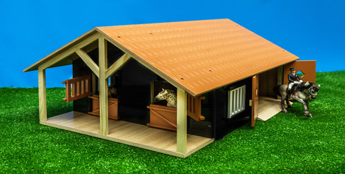 Kids Globe 1:24 Scale Horse Stable (0167)