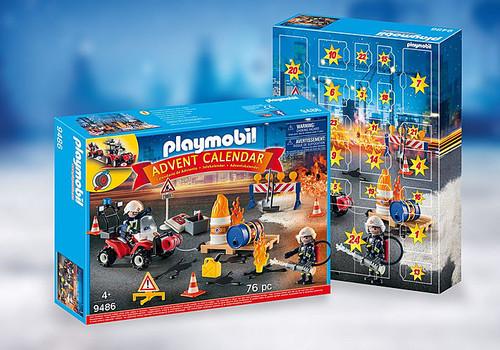 Playmobil Advent Calendar Construction Fire Site (9486)