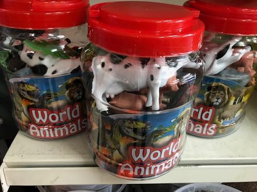 Large Tub of Farm Animals
