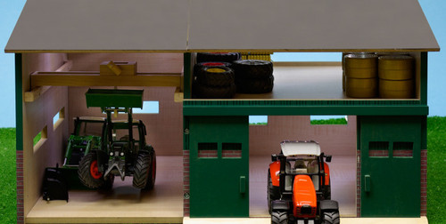 Kids Globe Machinery Shed and Workshop with Loft (0410)