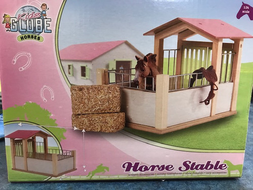 Kids Globe 1:24 Scale Horse Stable (0206)