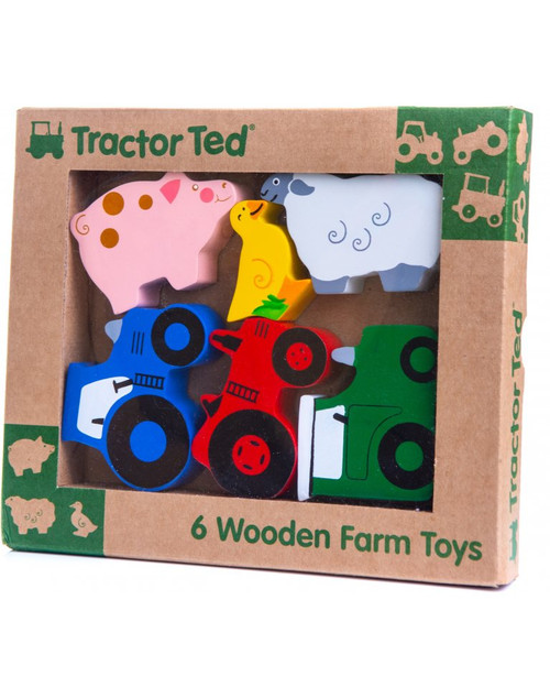 Tractor Ted 6 Wooden Farm Toys