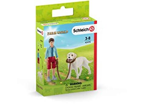 Schleich Walking with Labrador Retriever (42478)