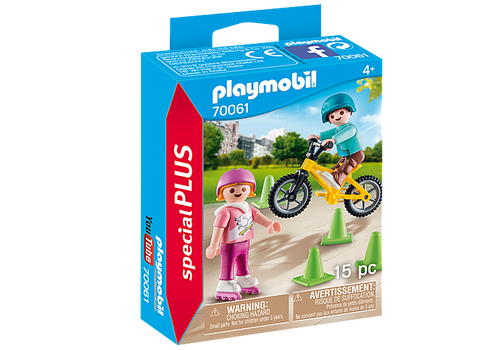 Playmobil Special Plus Children with Skates and Bike (70061)
