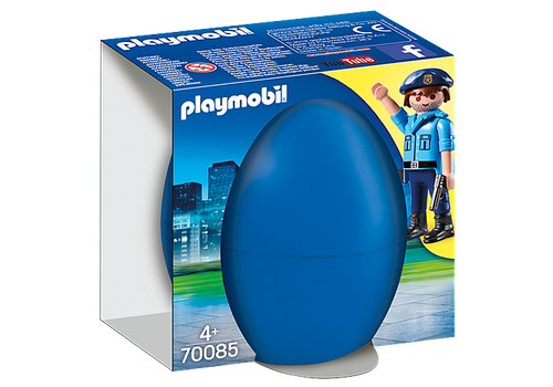 Playmobil Police Officer with Dog Gift Egg (70085)