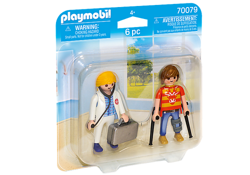 Playmobil Duo Pack Doctor and Patient (70079)