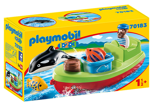 Playmobil 1.2.3 Fisherman with Boat (70183)
