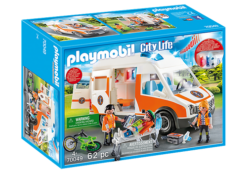 Playmobil Ambulance with Flashing Lights (70049)