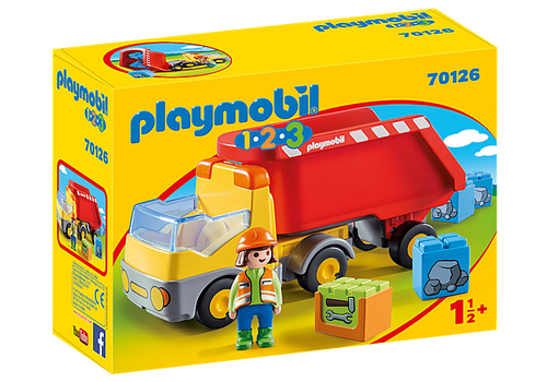 Playmobil 1.2.3 Dump Truck (70126)