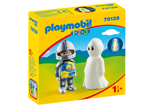 Playmobil 1.2.3 Knight with Ghost (70128)
