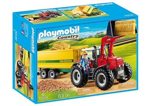 Playmobil Tractor with Feed Trailer (70131)