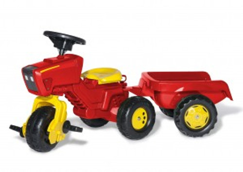 Rolly Red 3 Wheeled Tractor & Trailer (52752)