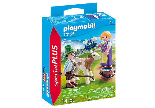 Playmobil Special Plus Children with Calf (70155)