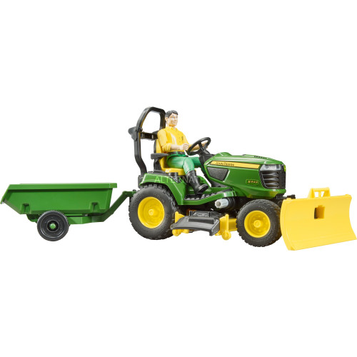 Bruder John Deere Ride on Mower with Trailer and Accessories (62104)