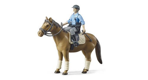 Bruder bWorld Mounted Policeman & Horse (B62507)