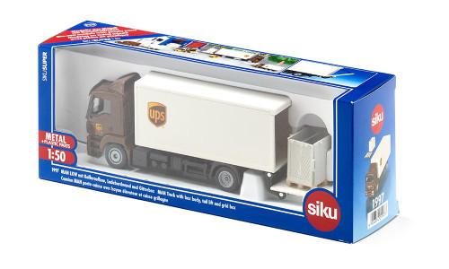SIKU UPS MAN Truck with Box Body and Tail Lift (1997)