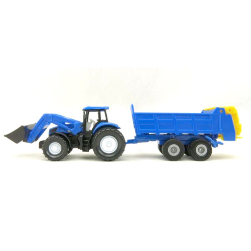 Siku New Holland Tractor & Blue Tipping Trailer (1630)