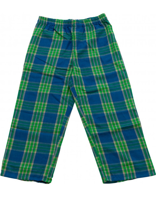 Tractor Ted Cotton Checked Bottoms - Green/Blue