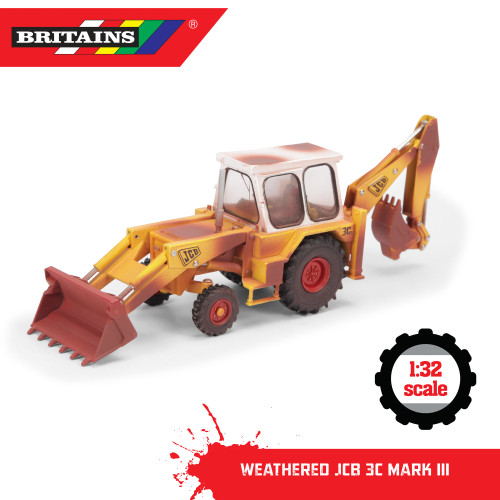 Britains Weathered JCB 3X Mark III Digger (43280)