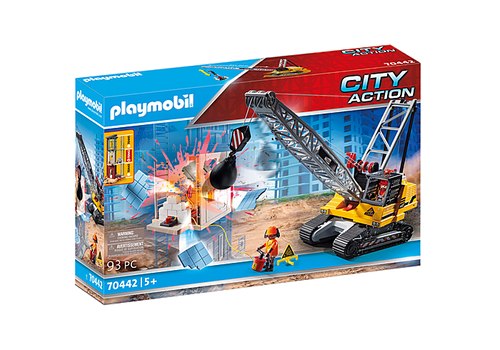 Playmobil Construction Cable Excavator with Building Section (70442)