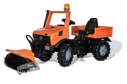 Rolly Orange Service Unimog with Sweeper (03819)