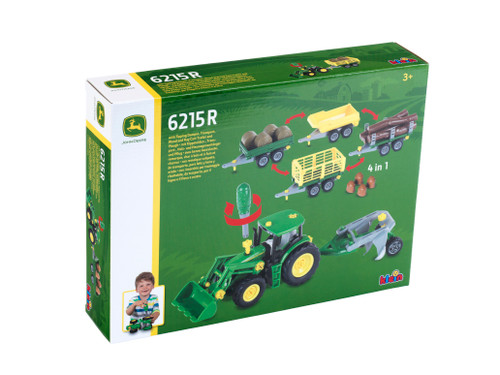 Theo Klein John Deere 6215R with 5 Trailers (3907)