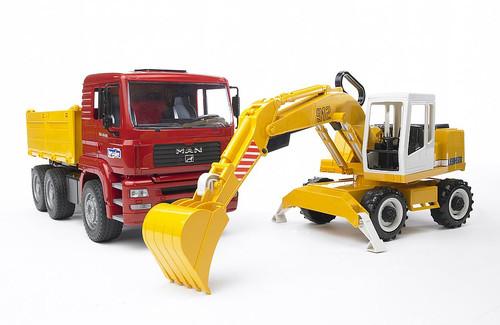 Bruder MAN TGA Construction Truck with Excavator (2751)