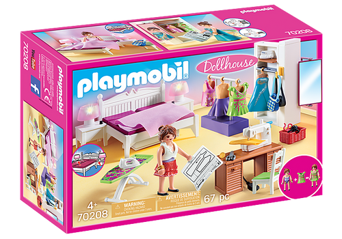 Playmobil Dollhouse Bedroom with Sewing Corner (70208)