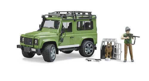 Bruder Land Rover Defender with Forester and Dog (02587)