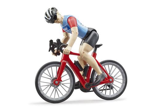 Bruder bWorld Road Bike with Cyclist (B63110)