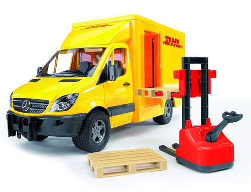 Mercedes Benz Sprinter DHL with Hand Pallet Truck and 2 Pallets (02534)
