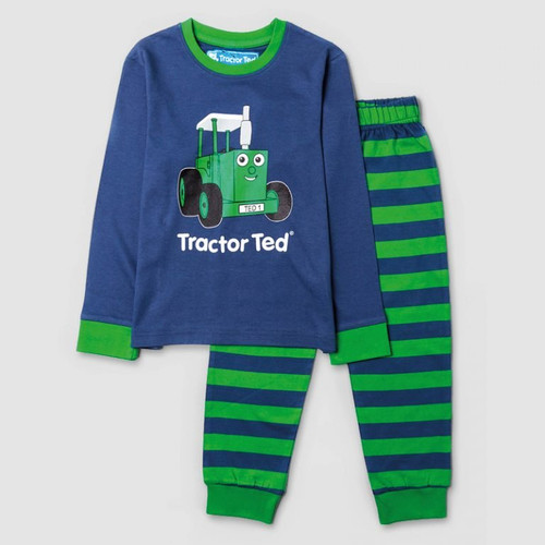 Tractor Ted Stripey PJ's - Blue/Green