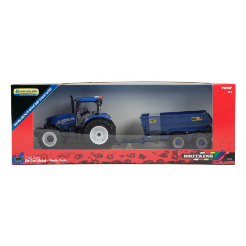 Britains New Holland T6 Tractor with NC Dump Trailer (43268)