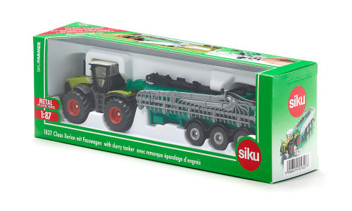 Siku 1:87 Claas Xerion Tractor with Slurry Tanker (1827)