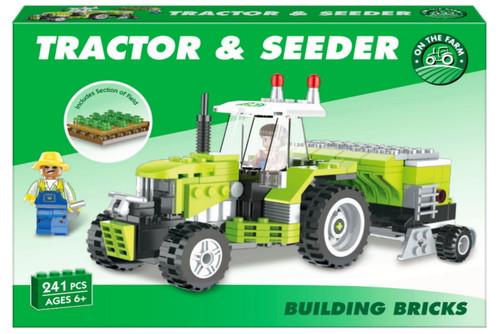 Building Bricks Tractor & Seeder Set - 259 pieces (K38/3964)