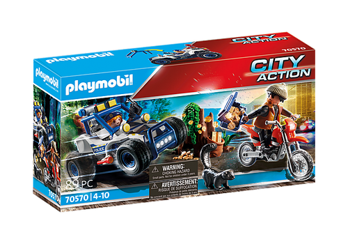 Playmobil Police Off-Road Car with Jewel Thief (70570)