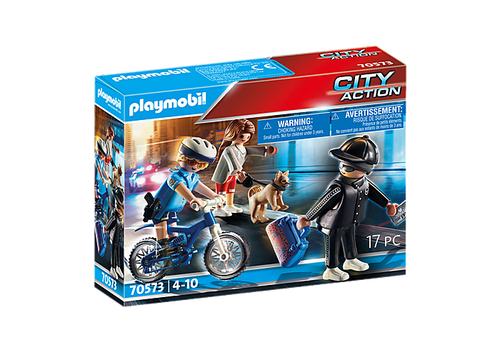 Playmobil Police Bicycle with Thief (70573)