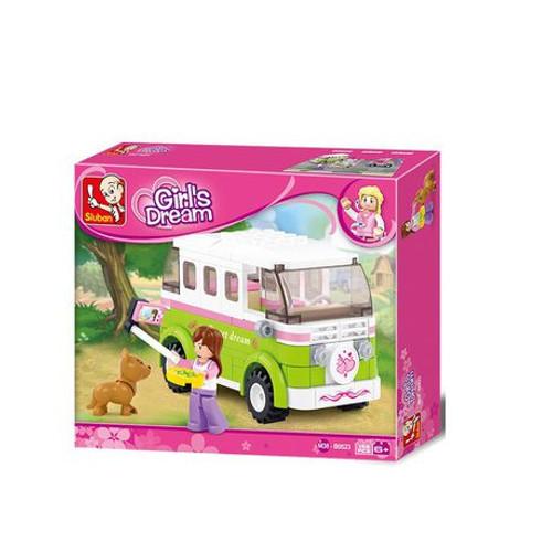 Play Bricks Girl's Dream Touring Wagon 'Sweet Dream' Camper (20523)
