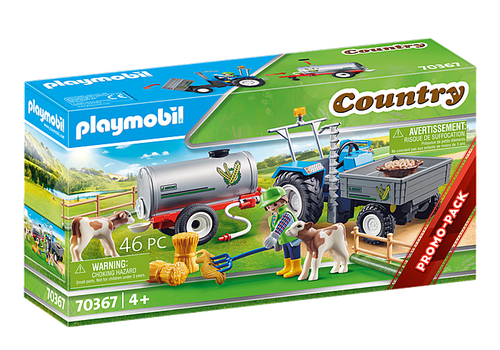 Playmobil Loading Tractor with Water Tank (70367)