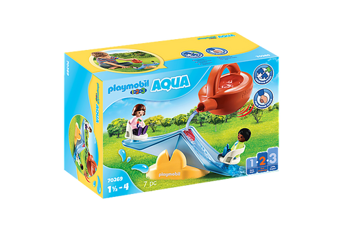 Playmobil 1.2.3 Water Seesaw with Watering Can (70269)
