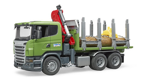 Bruder Scania R-Series Timber Truck with Loading Crane (03524)