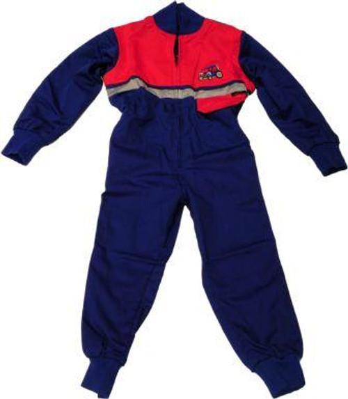 Kids Hi-Vis Junior Boilersuit - Blue/Red kidshivisblu/red_configure