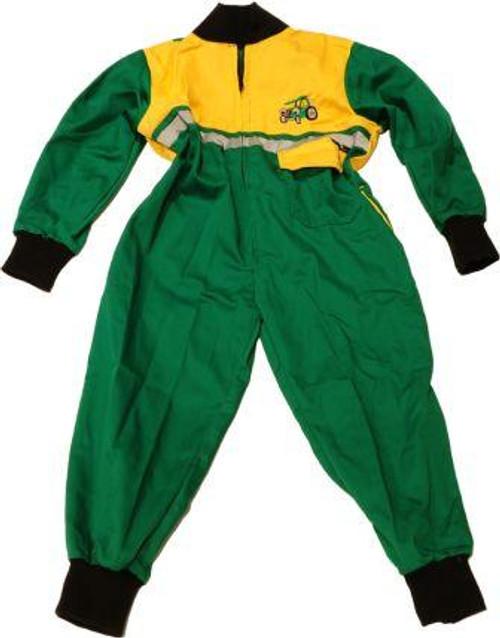 Kids Hi-Vis Junior Boilersuit - Green/Yellow kidshivisgrn/yel_configure