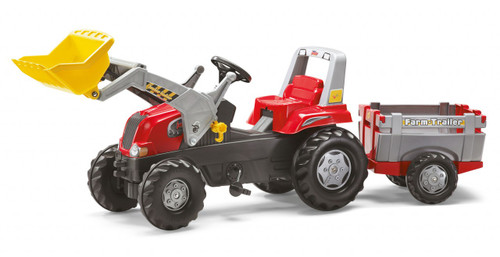 Rolly Red Tractor-Loader & Trailer Junior (81139)