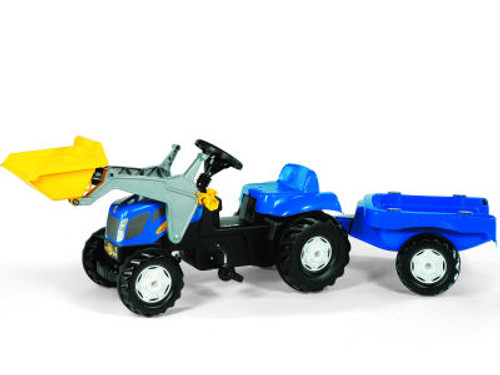 Rolly New Holland TVT 190 Tractor with Trailer and Loader (02392)
