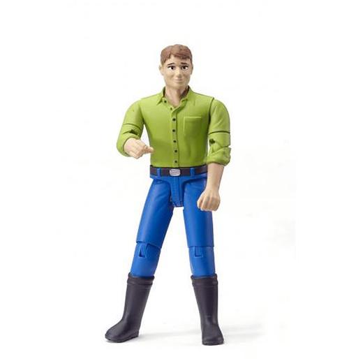 Bruder bworld Figure w/ Fair Hair & Boots (60010)